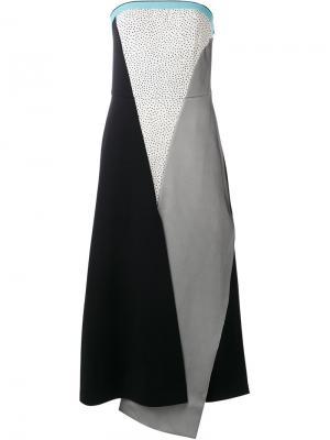 Платье в стиле колор-блок Antonio Marras. Цвет: многоцветный