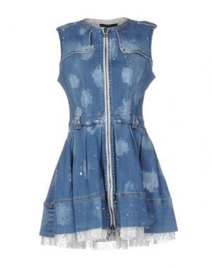 Короткое платье SLY010. Цвет: синий