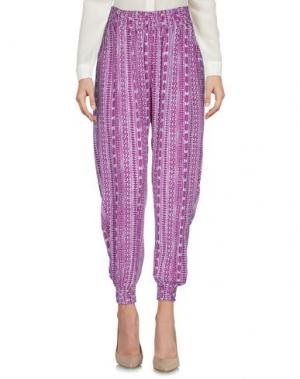 Повседневные брюки COOLCHANGE. Цвет: розовато-лиловый