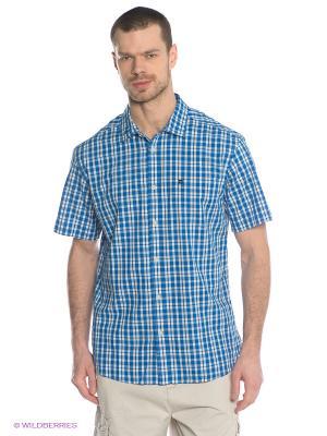 Рубашка  ISAAC SS Quiksilver. Цвет: синий, молочный