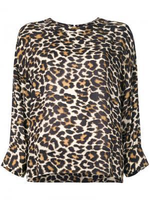 Блузка с леопардовым узором Essentiel Antwerp. Цвет: многоцветный