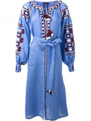 Платье с вышивкой Vita Kin. Цвет: синий