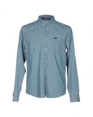 Джинсовая рубашка LEE. Цвет: синий