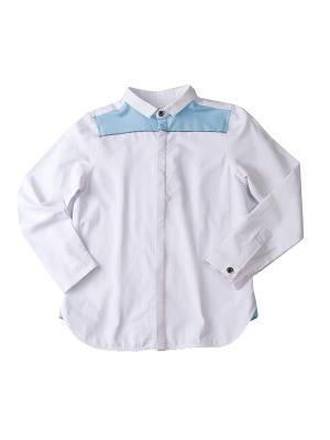 Рубашка I love to dream. Цвет: белый, голубой