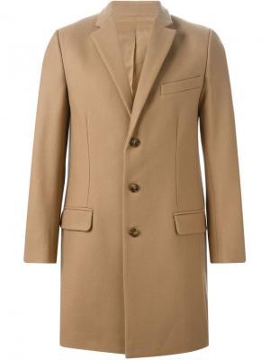 Однобортное пальто Harmony Paris. Цвет: телесный