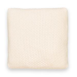 Чехол для подушки трикотажный, WESTPORT La Redoute Interieurs. Цвет: желтый горчичный,розовая пудра,серый,синий индиго,хаки,экрю