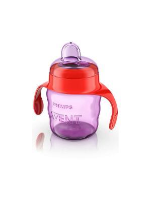 Чашка с мягким носиком Philips Avent SCF551/00, 200 мл, 6 мес.+. Цвет: фиолетовый, красный