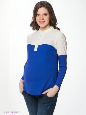 Блузка Nuova Vita. Цвет: синий, молочный