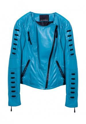 Куртка Albertini Collezione. Цвет: бирюзовый