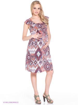 Платье для беременных 40 недель. Цвет: оранжевый, бордовый, голубой