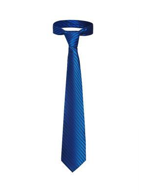 Классический галстук Казино Рояль со стильным принтом Signature A.P.. Цвет: синий, черный