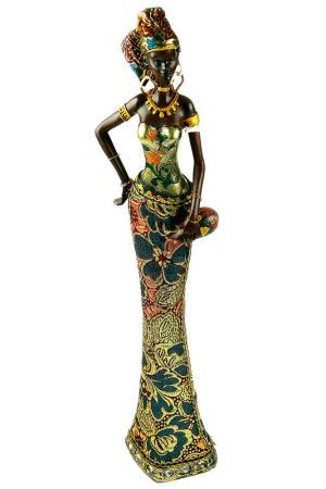 Статуэтка Африканка Русские подарки. Цвет: черный, зеленый