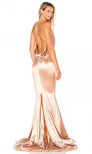 Атласное вечернее платье barthelemy Gemeli Power. Цвет: rose