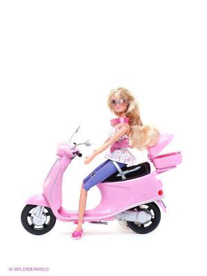 Кукла Штеффи на скутере Simba. Цвет: розовый