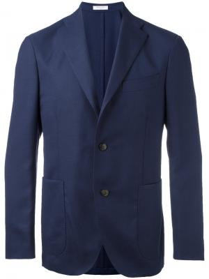 Пиджак с застежкой на две пуговицы Boglioli. Цвет: синий