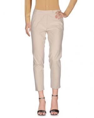 Повседневные брюки FEDELI. Цвет: слоновая кость
