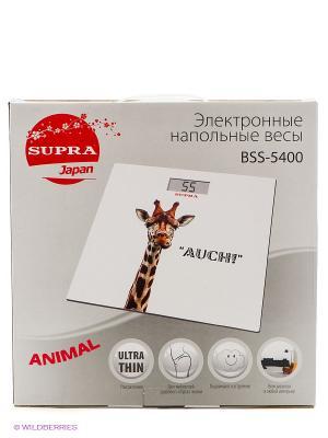 Весы напольные электронные BSS-5400, 150 кг Supra. Цвет: белый