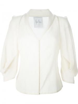 Блузка с воротником-шалькой Sybilla. Цвет: белый