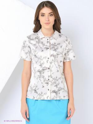 Блузка PAVO. Цвет: молочный