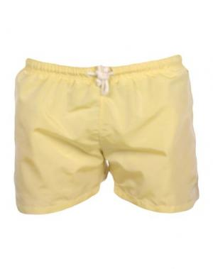 Шорты для плавания MOSAIQUE. Цвет: желтый