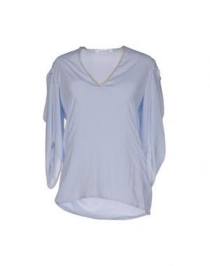 Блузка LALTRAMODA. Цвет: небесно-голубой