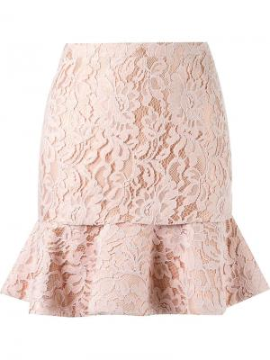 High waist lace skirt Martha Medeiros. Цвет: розовый и фиолетовый