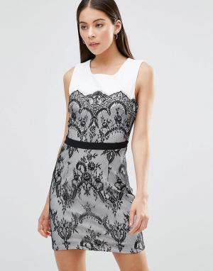 Parisian Платье с кружевной отделкой. Цвет: черный