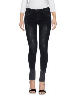 Джинсовые брюки MINUETO. Цвет: черный