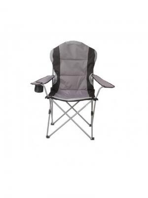 Кресло туристическое складное 60х66х50/95см (СТАЛЬ) GreenGlade. Цвет: черный, серый