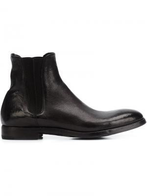 Классические ботинки Челси Alberto Fasciani. Цвет: чёрный