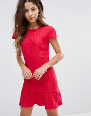 BA&SH Облегающее платье. Цвет: розовый