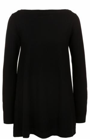 Пуловер свободного кроя с вырезом-лодочка Alaia. Цвет: черный