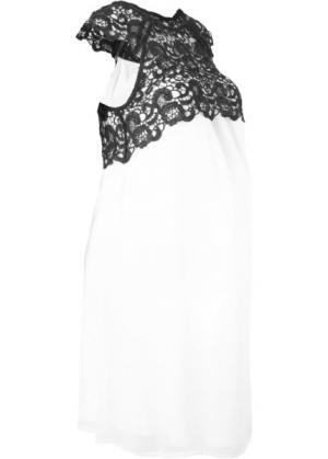 Платье праздничное для беременных (кремовый) bonprix. Цвет: кремовый