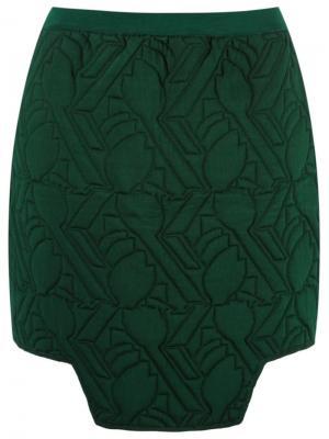 Mini padded skirt Gig. Цвет: зелёный
