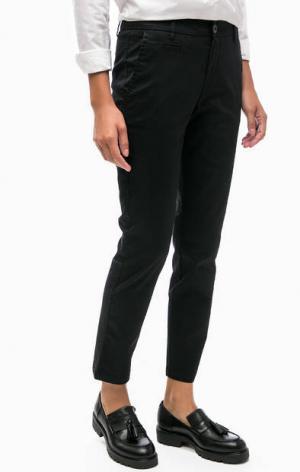 Укороченные брюки чиносы United Colors of Benetton. Цвет: черный
