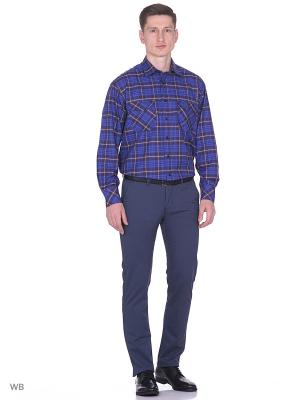 Рубашка Nicolo Angi. Цвет: темно-синий, коричневый, белый