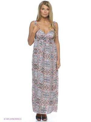 Платье Befree. Цвет: розовый, бирюзовый