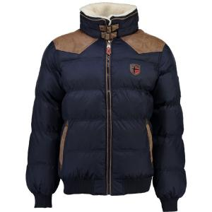 Куртка стеганая GEOGRAPHICAL NORWAY. Цвет: синий морской,черный