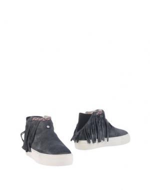 Полусапоги и высокие ботинки DOLFIE. Цвет: свинцово-серый