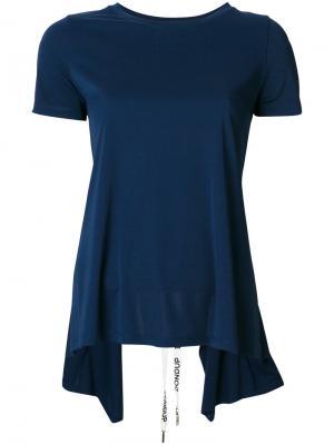 Асимметричная футболка Dondup. Цвет: синий