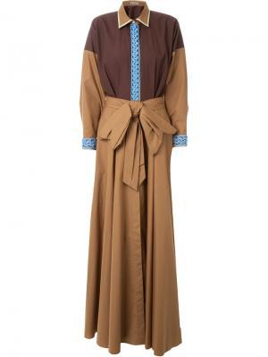 Платье Crocket Vika Gazinskaya. Цвет: коричневый