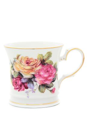 Кружка Цветочная карусель Elan Gallery. Цвет: розовый, белый, зеленый, желтый
