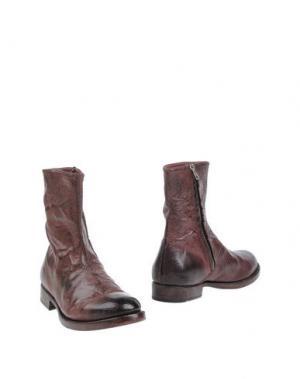 Полусапоги и высокие ботинки ASGAARD. Цвет: баклажанный