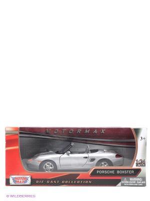 Машинка коллекционная Porsche Boxster Motormax. Цвет: серебристый