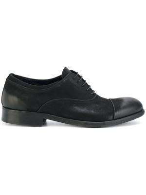 Оксфорды на шнуровке Leqarant. Цвет: чёрный