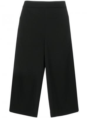 Широкие укороченные брюки Tibi. Цвет: чёрный