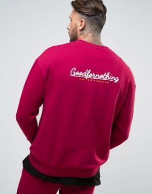 Good For Nothing Свитшот с логотипом. Цвет: красный