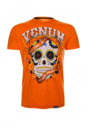 Футболка Venum. Цвет: оранжевый