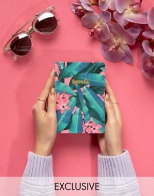 OHH DEER Ежедневник с пальмовыми листьями. Цвет: мульти
