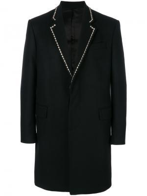 Классическое пальто с заклепками Les Hommes. Цвет: чёрный